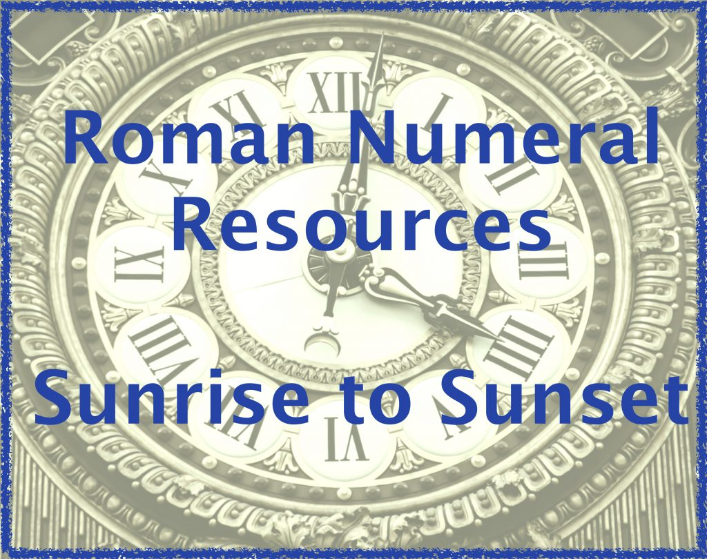Roman Numeral Resources