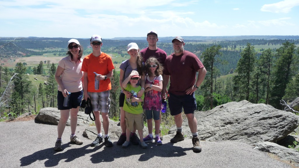 Family at Devil's Tower