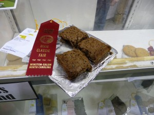 Lizzie's 2nd place brownies.