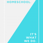 Why We Homeschool - It's What We Do